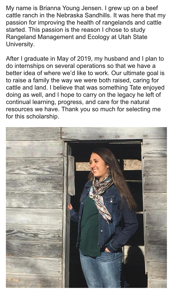2018 Scholarship Recipient